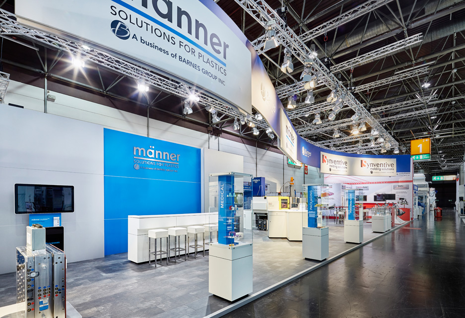 Custom Exhibition Stand By Me : Barnes group inc k düsseldorf sqm